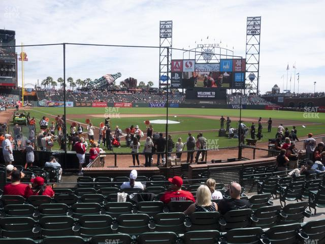 Oracle Park Section 113 view