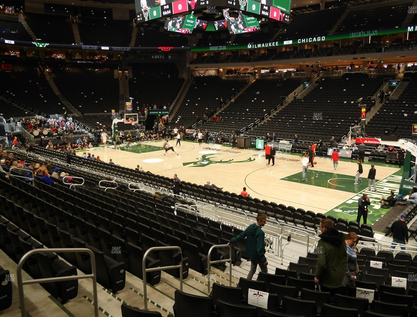 Fiserv Forum Section 104 Seat Views