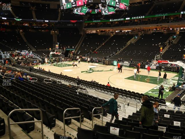 Fiserv Forum Section 104 view