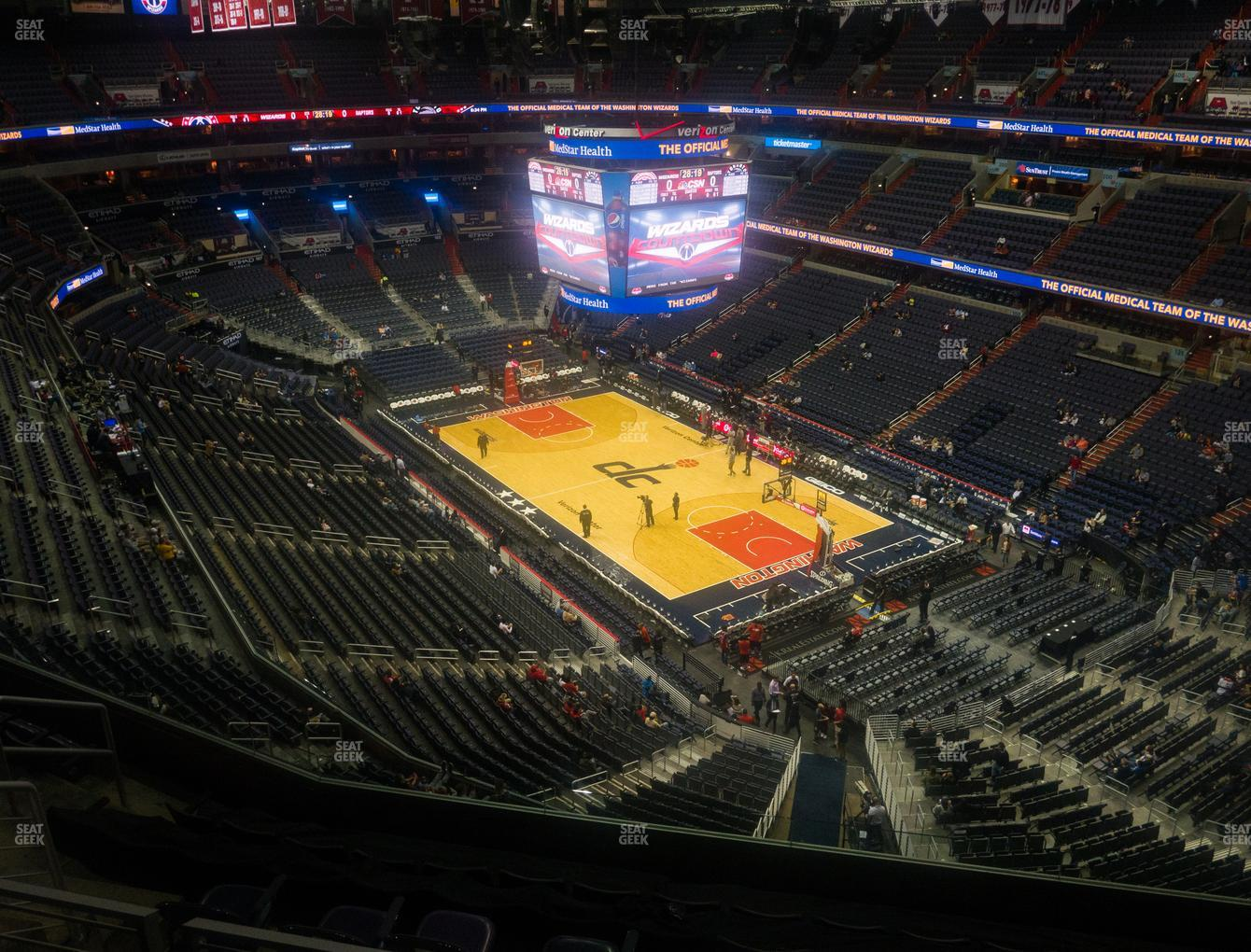 Washington Wizards at Capital One Arena Section 422 View