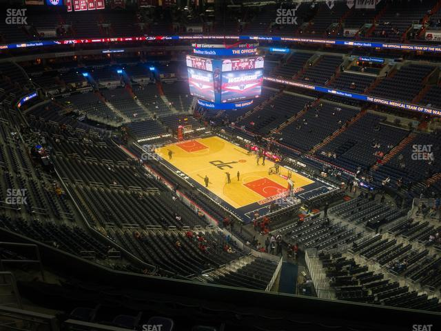 Capital One Arena Section 422 view