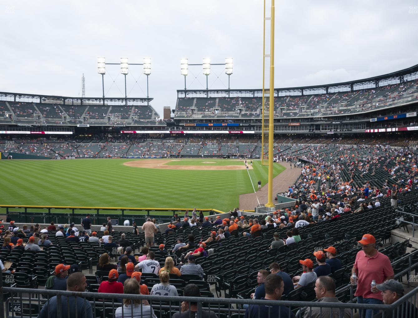 Detroit Tigers at Comerica Park Section 146 View