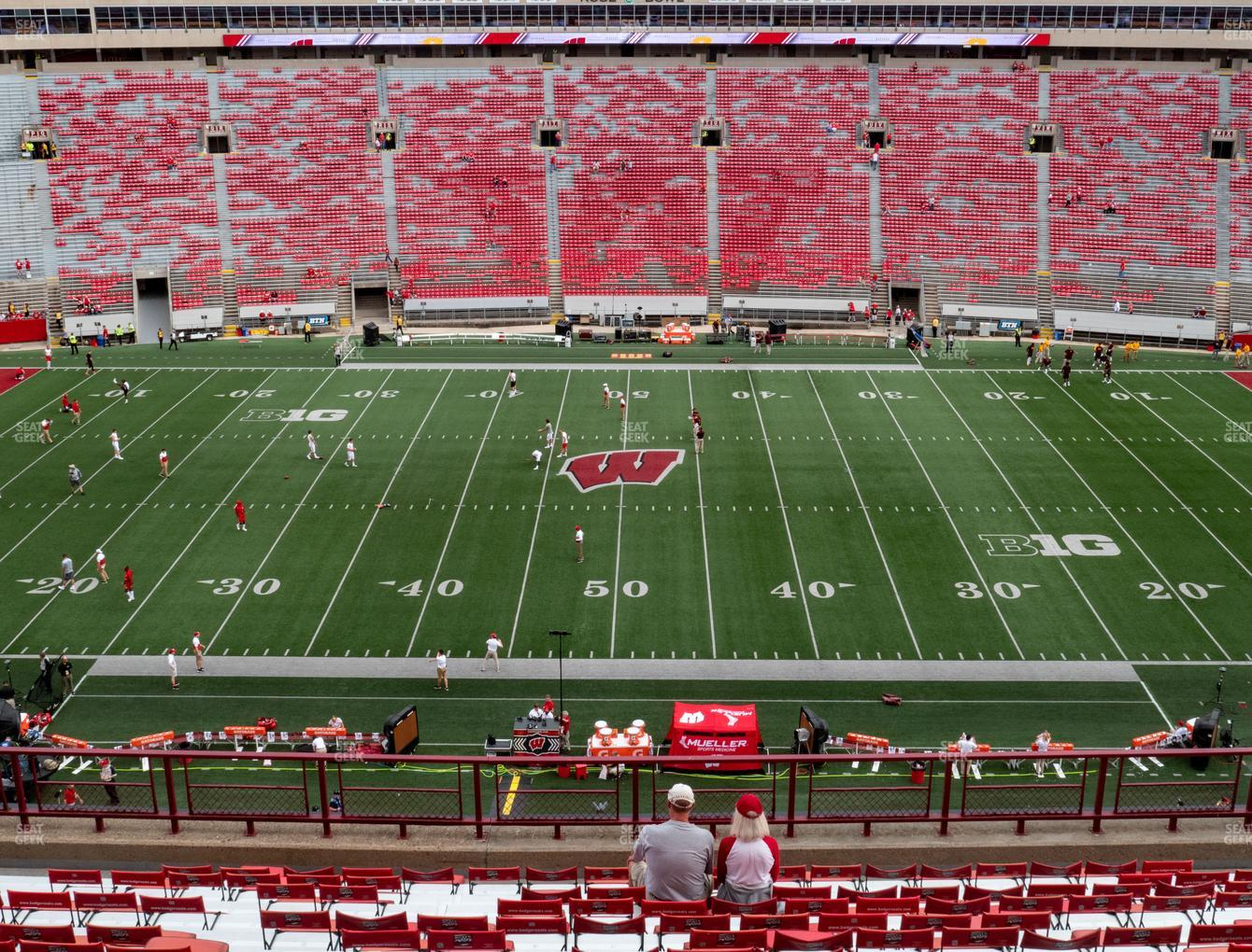 Wisconsin Badgers Football at Camp Randall Stadium Section FF View