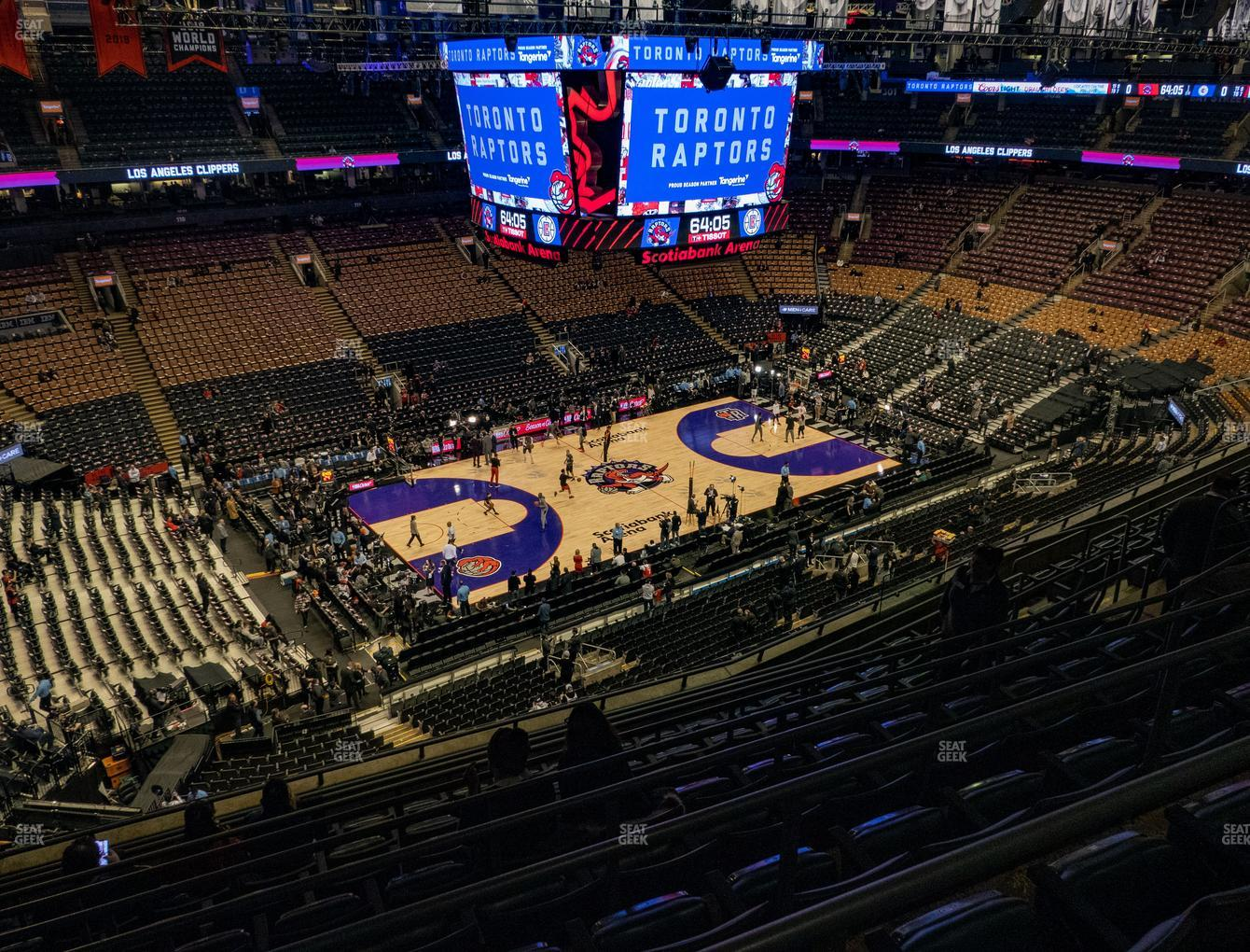 Toronto Raptors at Scotiabank Arena Section 311 View