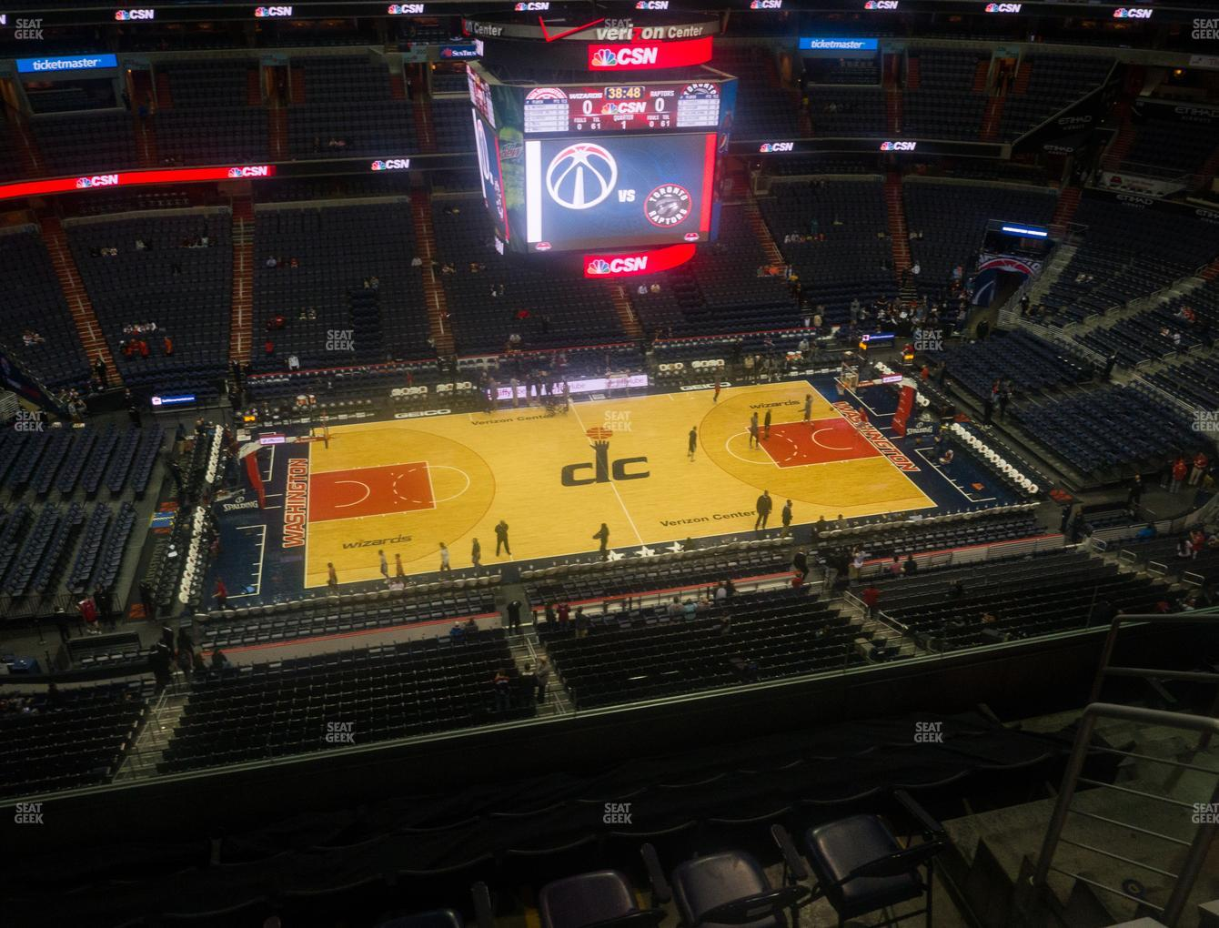 Washington Wizards at Capital One Arena Section 416 View