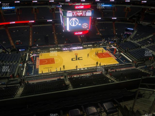 Capital One Arena Section 416 view
