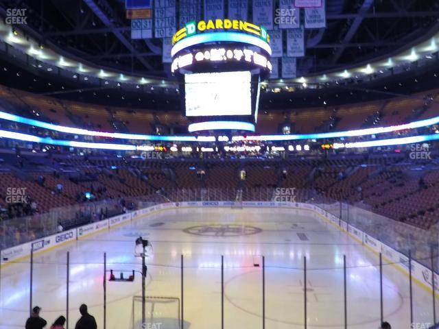TD Garden Section Loge 17 view