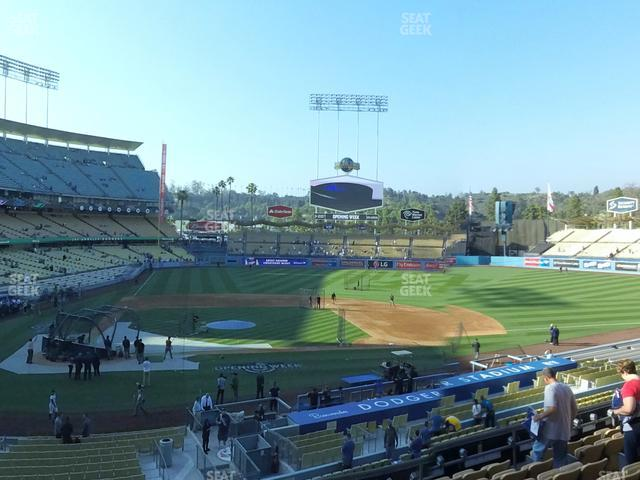 Dodger Stadium Loge Box 124 view