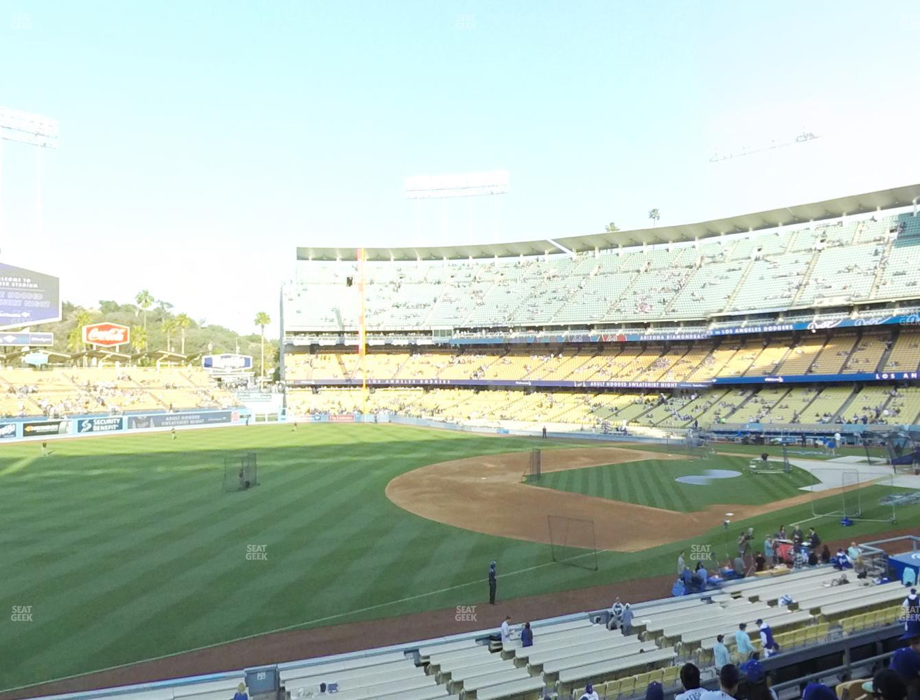 Los Angeles Dodgers at Dodger Stadium Loge Box 151 View