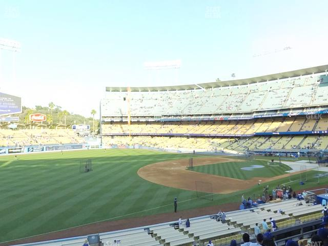 Dodger Stadium Loge Box 151 view