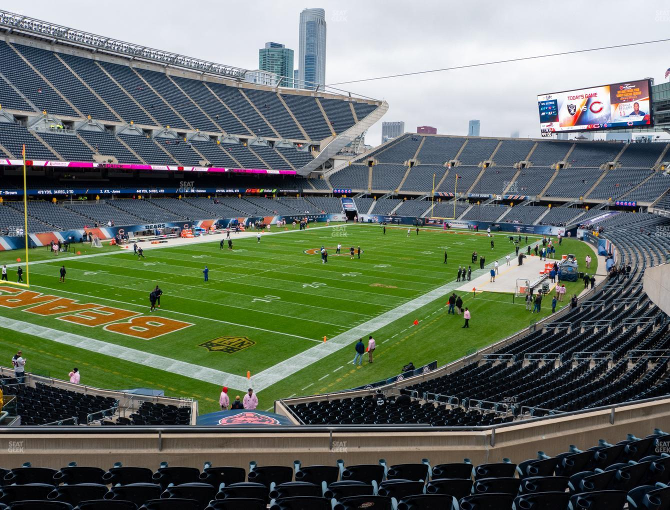Chicago Bears at Soldier Field Section 218 View