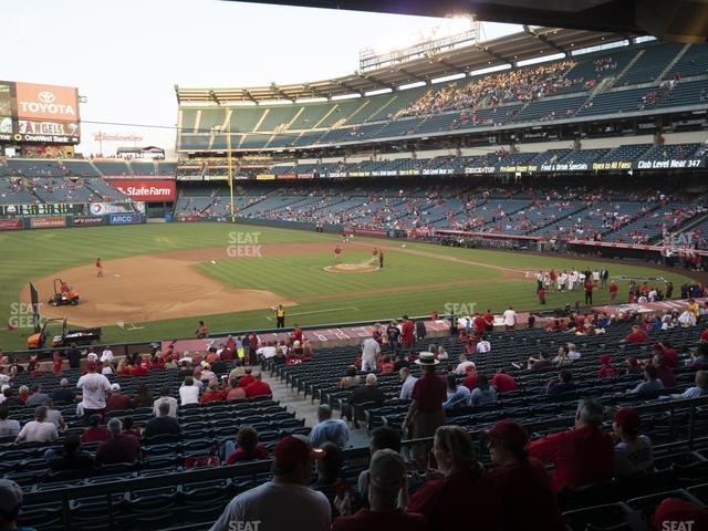 Angel Stadium of Anaheim Section 210 view