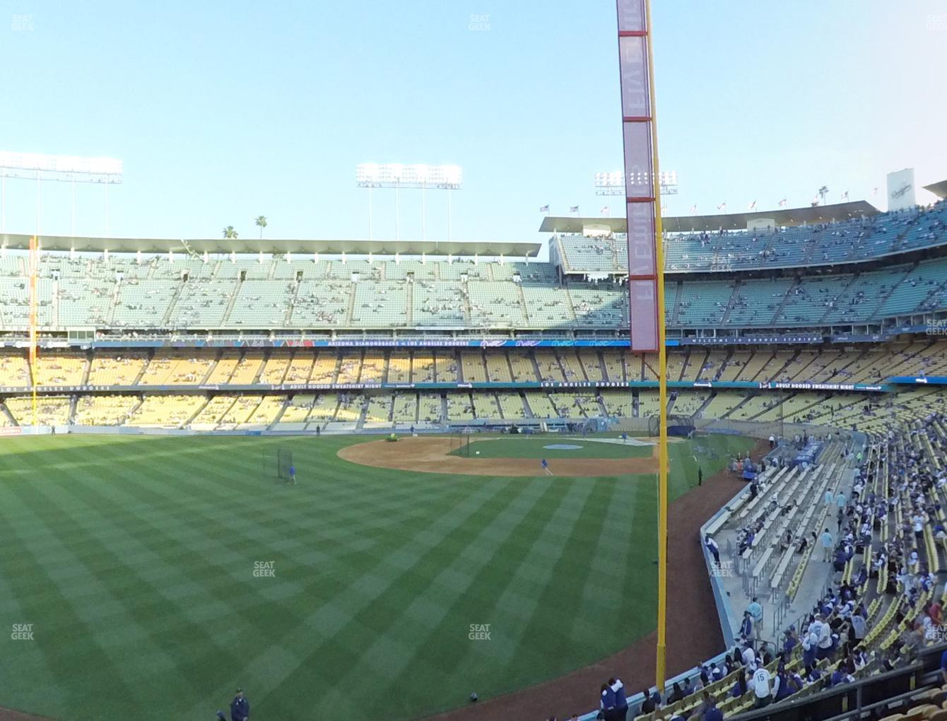 Los Angeles Dodgers at Dodger Stadium Loge Box 167 View