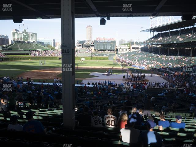 Wrigley Field Section 213 view