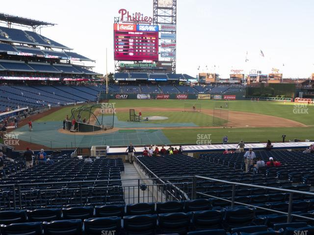 Citizens Bank Park Section 119 view