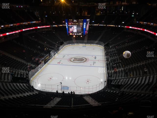 T-Mobile Arena Section 215 view