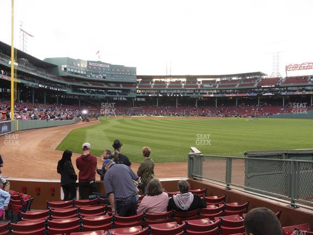 Fenway Park Right Field Box 1 view