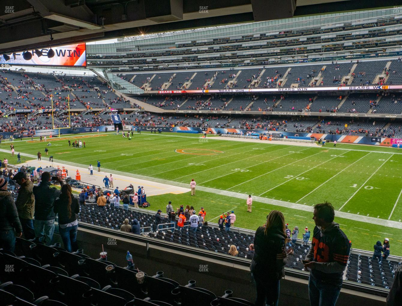 Chicago Bears at Soldier Field Section 232 View