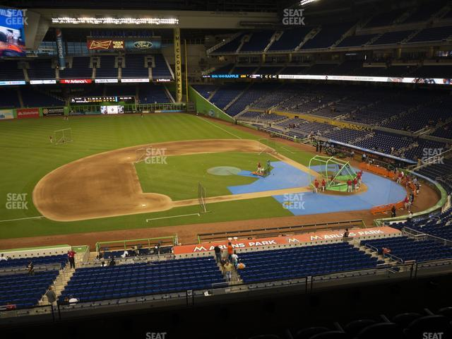Marlins Park Section 221 view