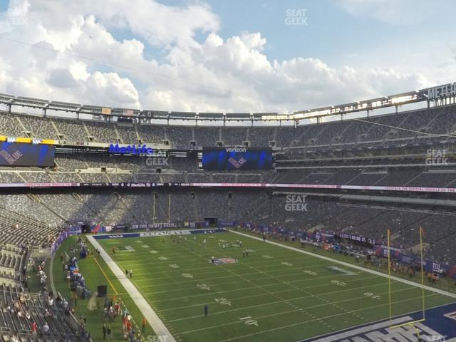 MetLife Stadium Section 205 A view
