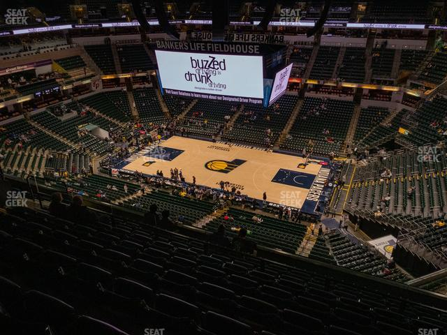 Bankers Life Fieldhouse Section 207 view