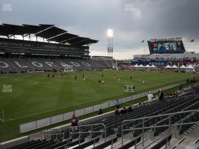 Dick's Sporting Goods Park Section 112 view