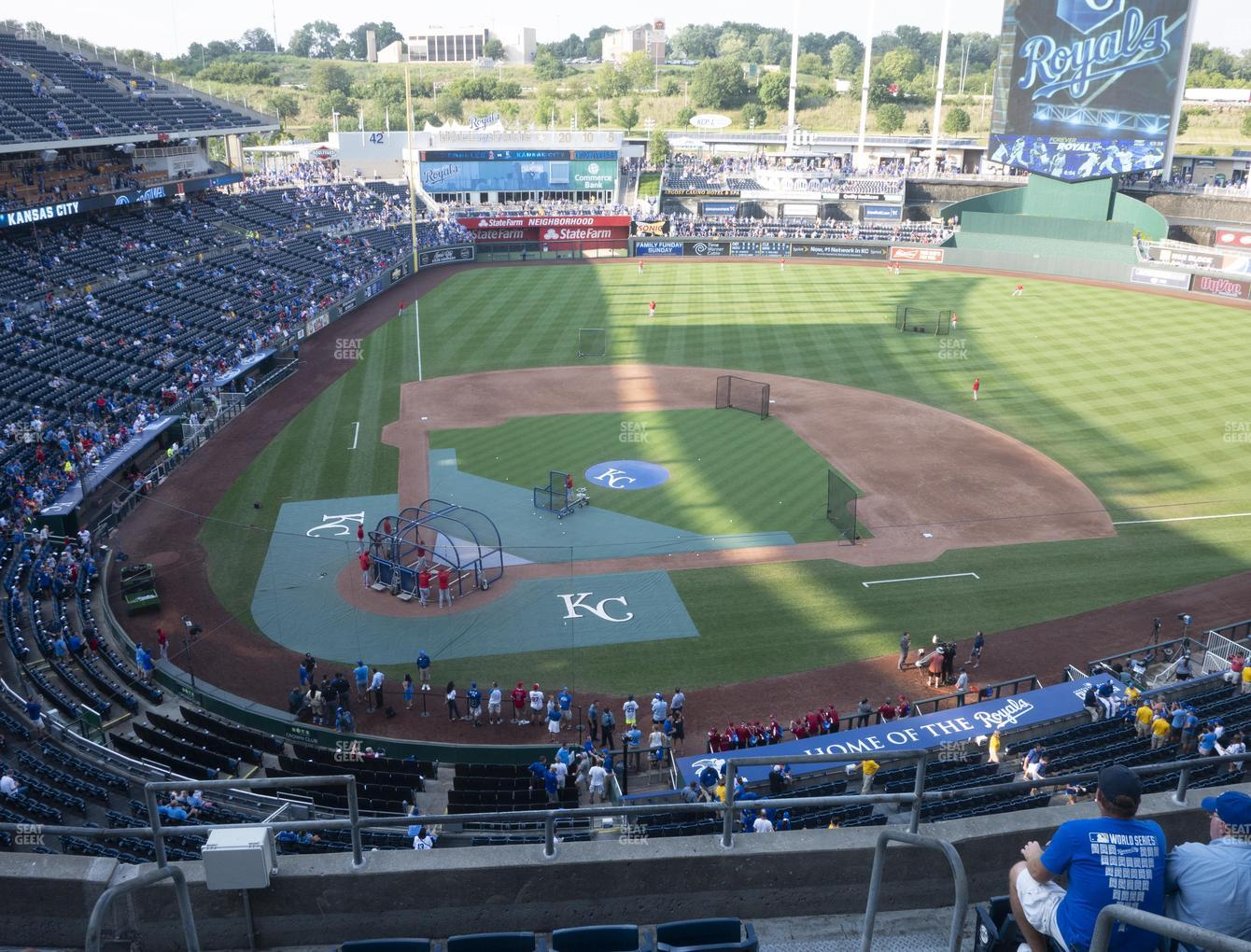 Kansas City Royals at Kauffman Stadium Section 426 View