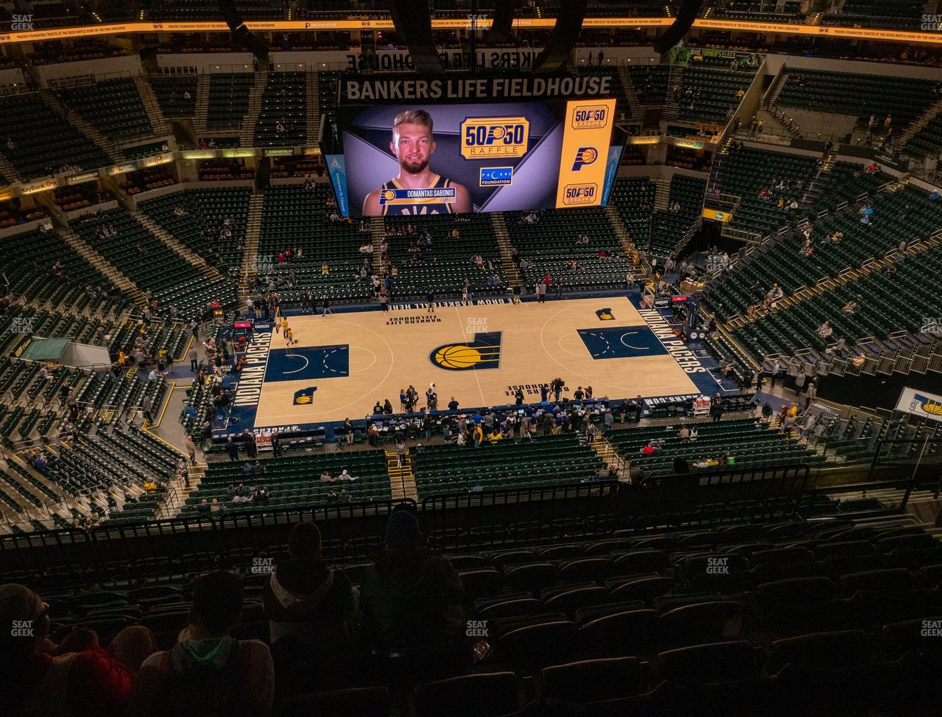 Indiana Pacers at Bankers Life Fieldhouse Section 209 View