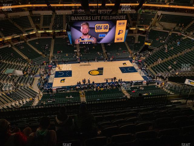Bankers Life Fieldhouse Section 209 view