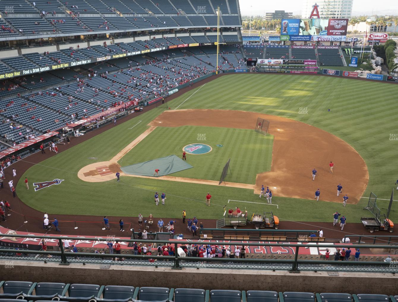 Los Angeles Angels at Angel Stadium of Anaheim Section 425 View