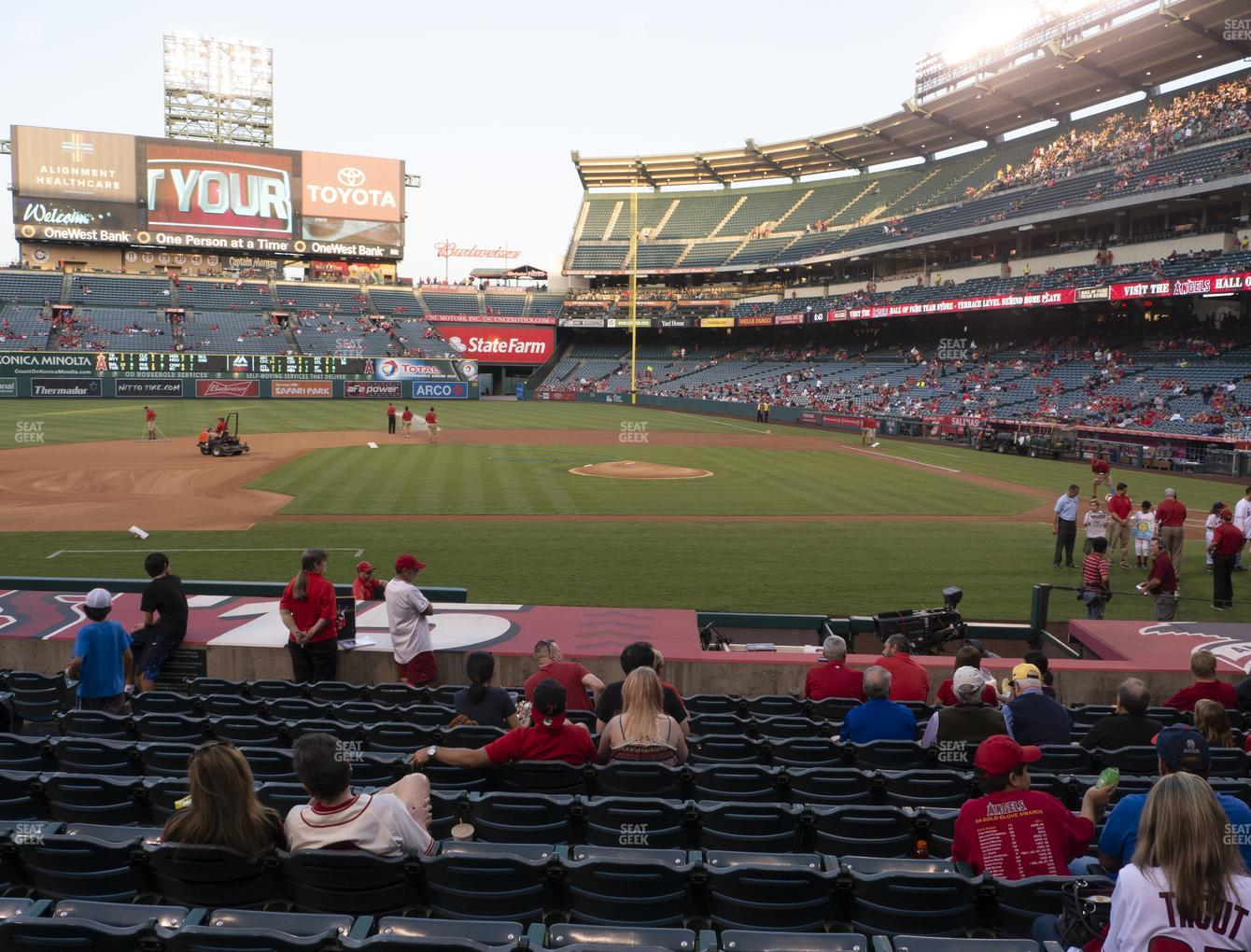 Los Angeles Angels at Angel Stadium of Anaheim Section 112 View