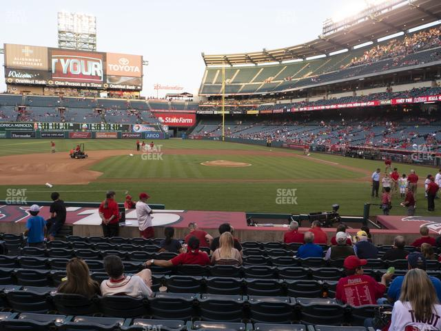 Angel Stadium of Anaheim Section 112 view