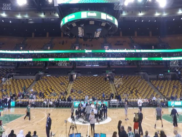 TD Garden Section Loge 12 view