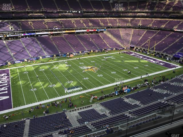 U.S. Bank Stadium Section 344 view