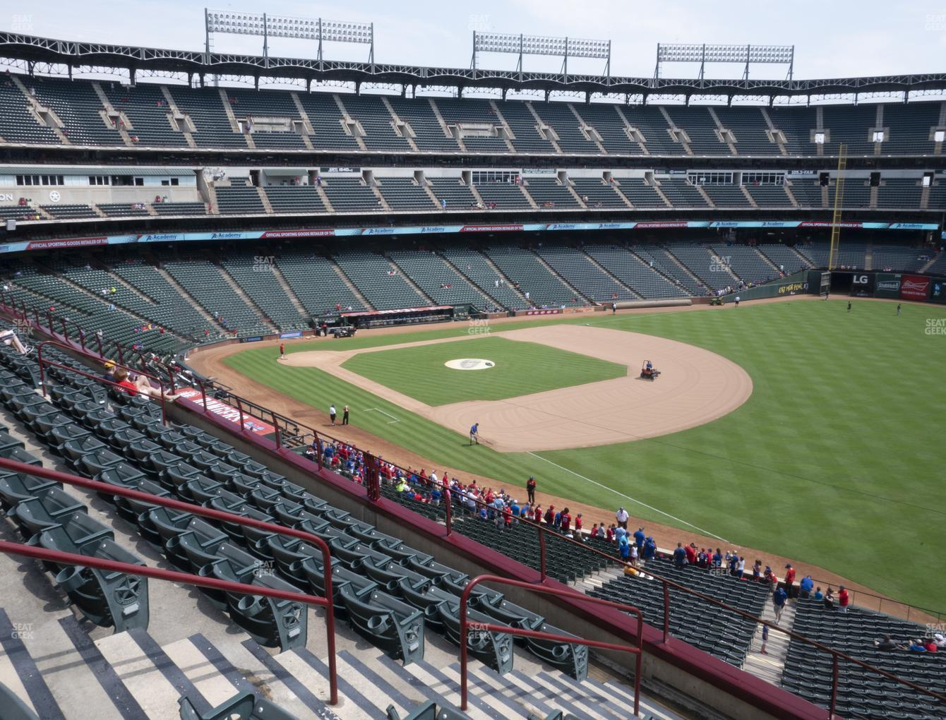 Texas Rangers at Globe Life Park Section 240 View