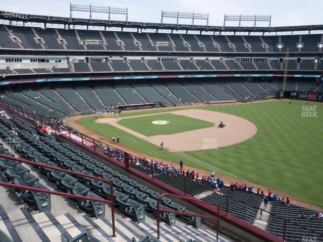 Globe Life Park Section 240 view