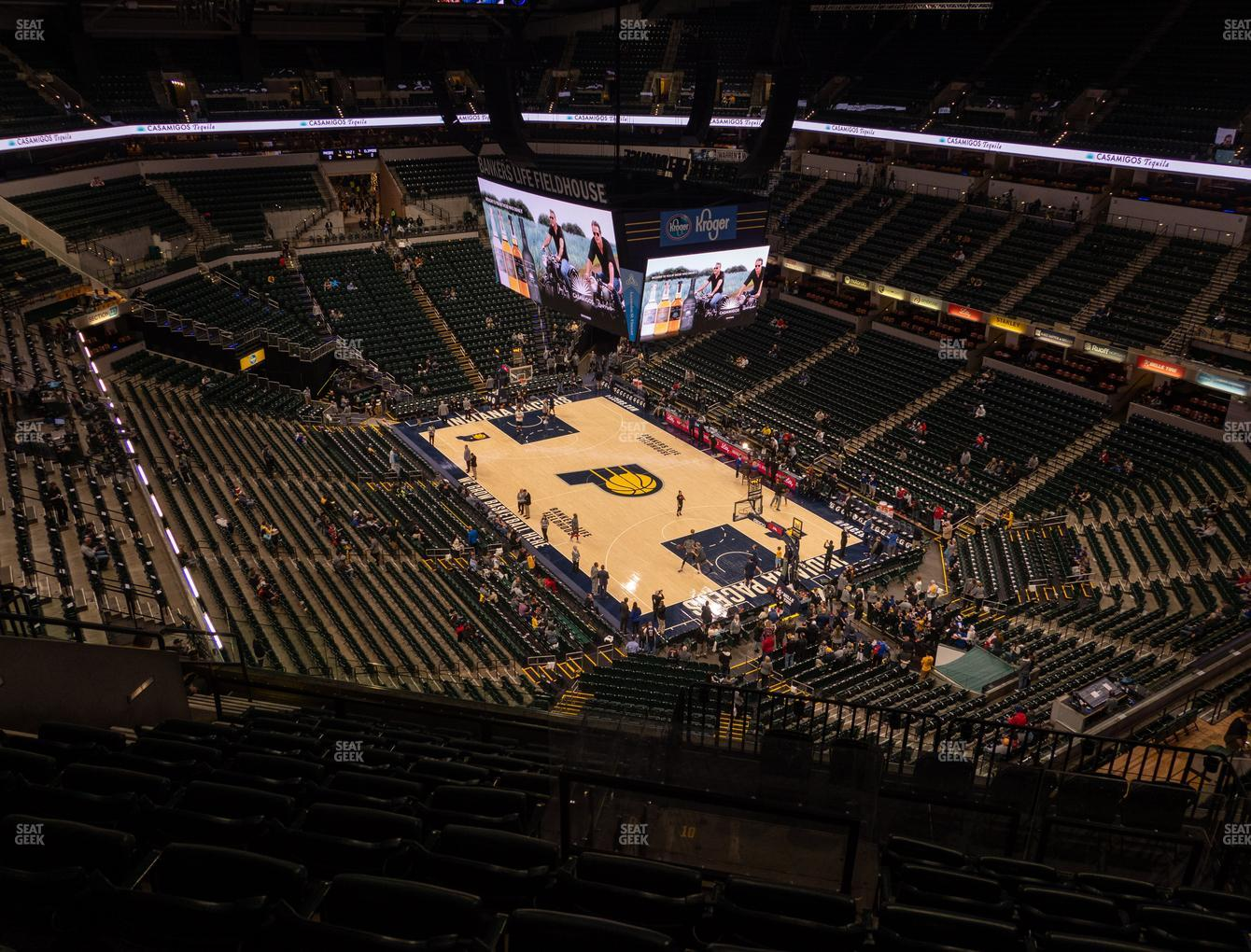 Indiana Pacers at Bankers Life Fieldhouse Section 220 View