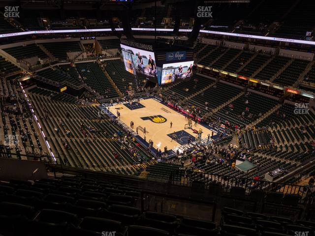 Bankers Life Fieldhouse Section 220 view