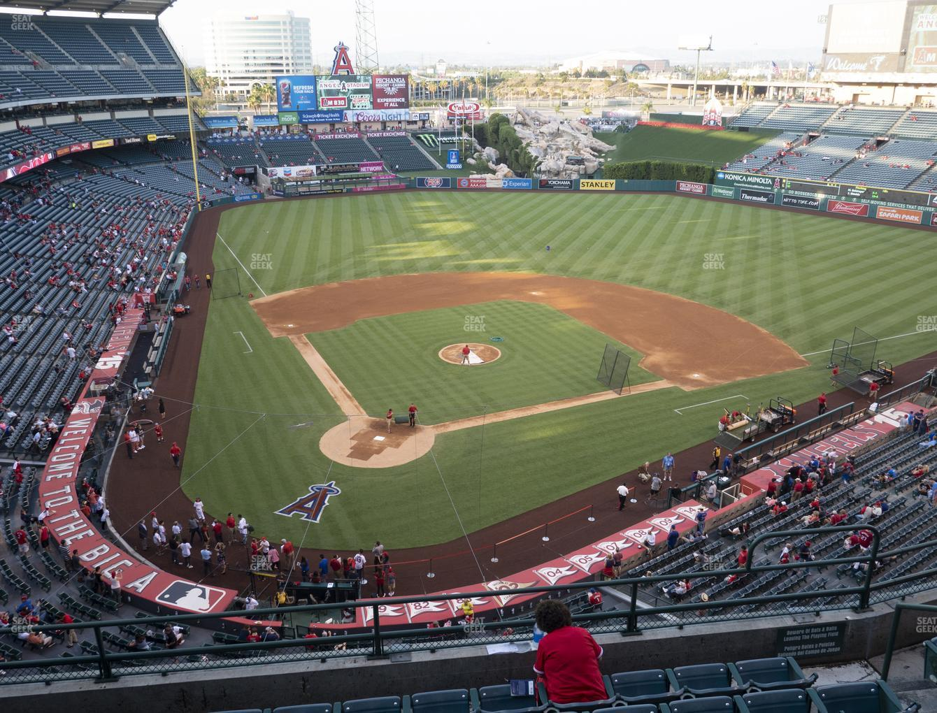 Los Angeles Angels at Angel Stadium of Anaheim Section 421 View