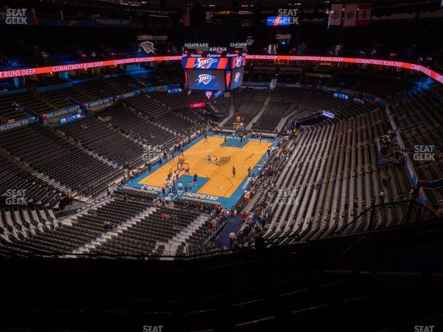 Chesapeake Energy Arena Section 329 view