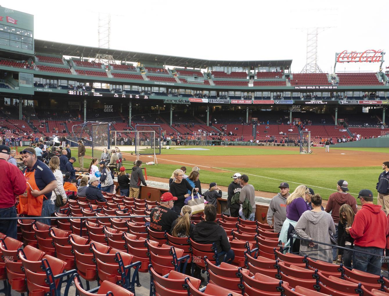 Boston Red Sox at Fenway Park Field Box 10 View