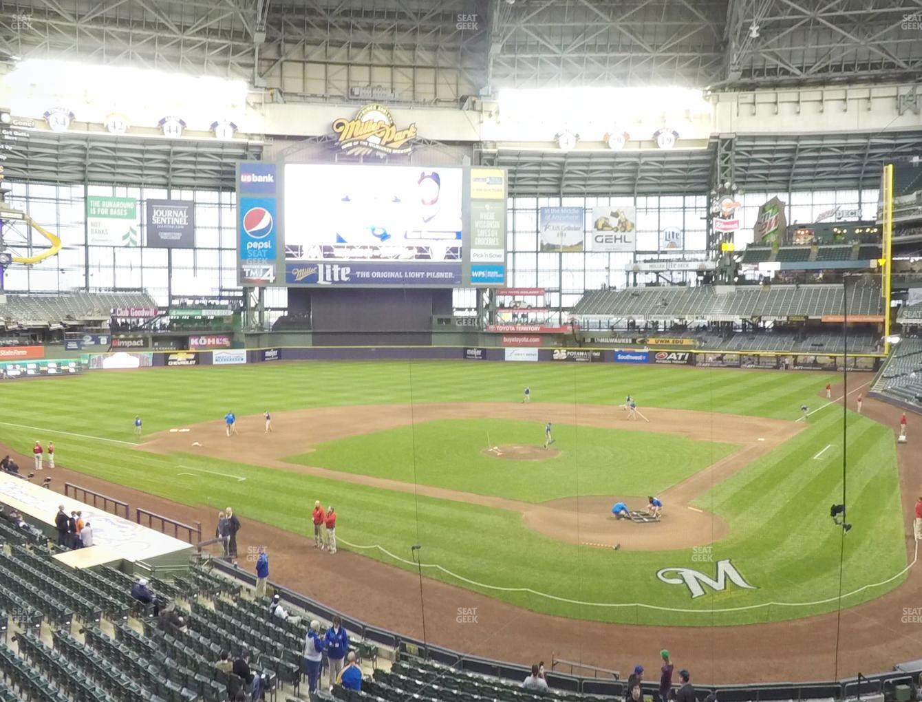 Milwaukee Brewers at Miller Park Section 220 View