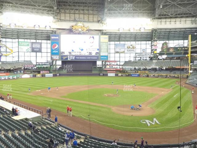 Miller Park Section 220 view