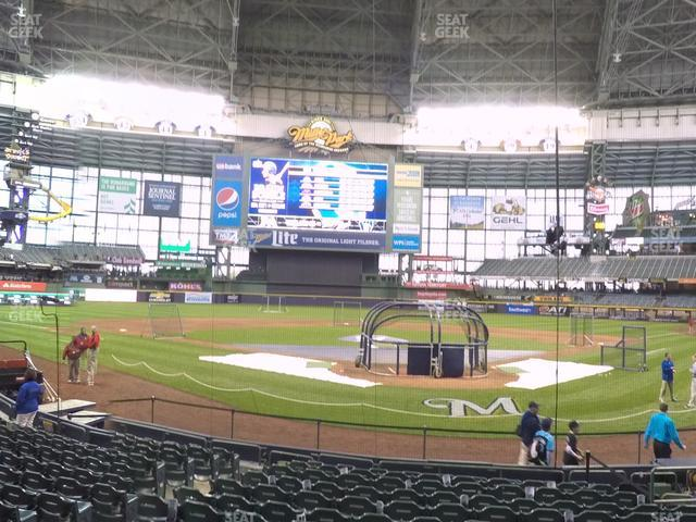 Miller Park Section 118 view