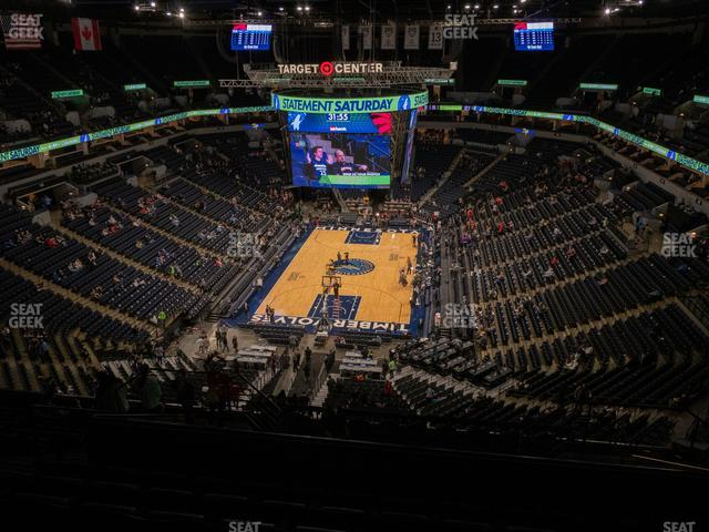 Target Center Section 240 view