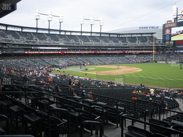 Comerica Park Section 116 view