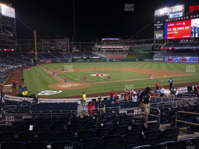 Nationals Park Section 125 view