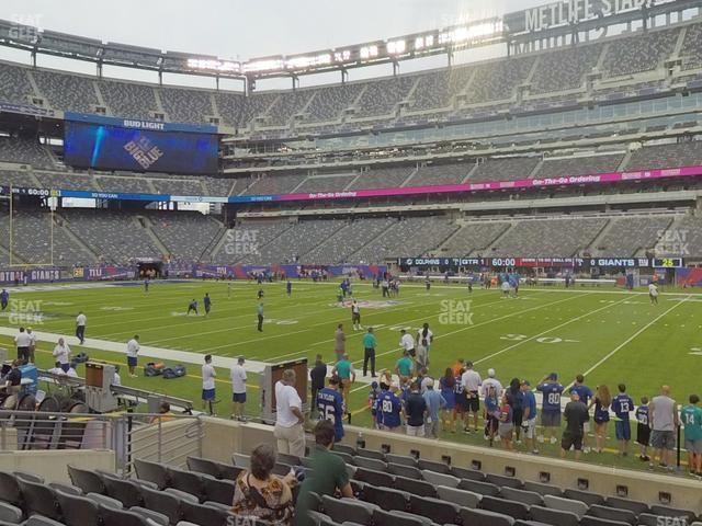 MetLife Stadium Section 135 view