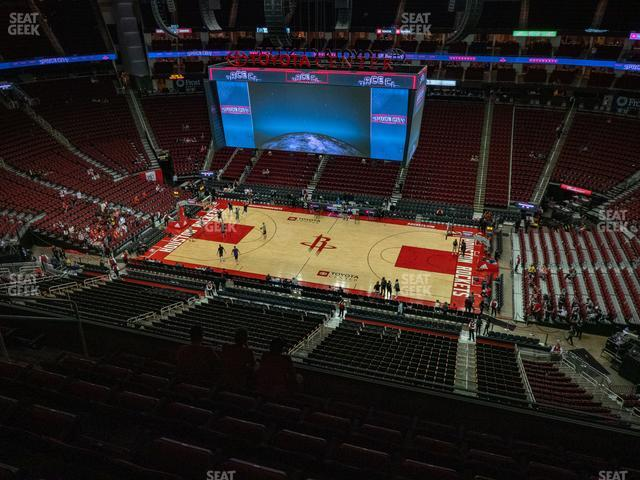 Toyota Center Section 408 view