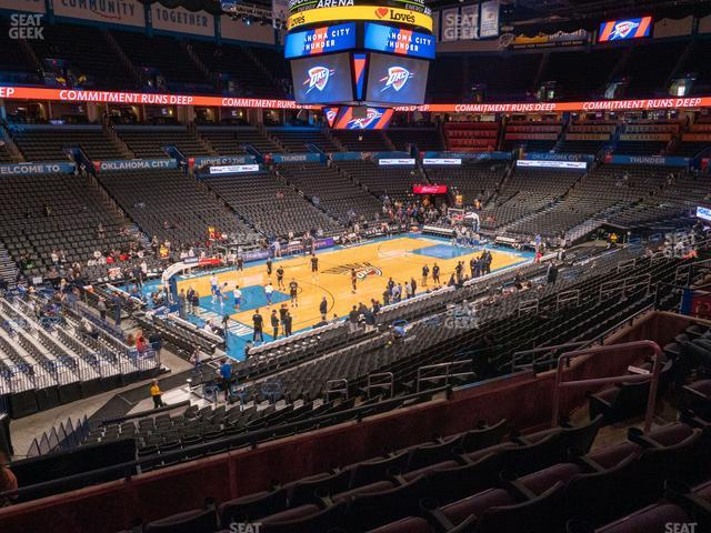 Chesapeake Energy Arena Section 211 view